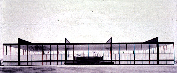 mies  crown hall   iit campus  chicago  1956